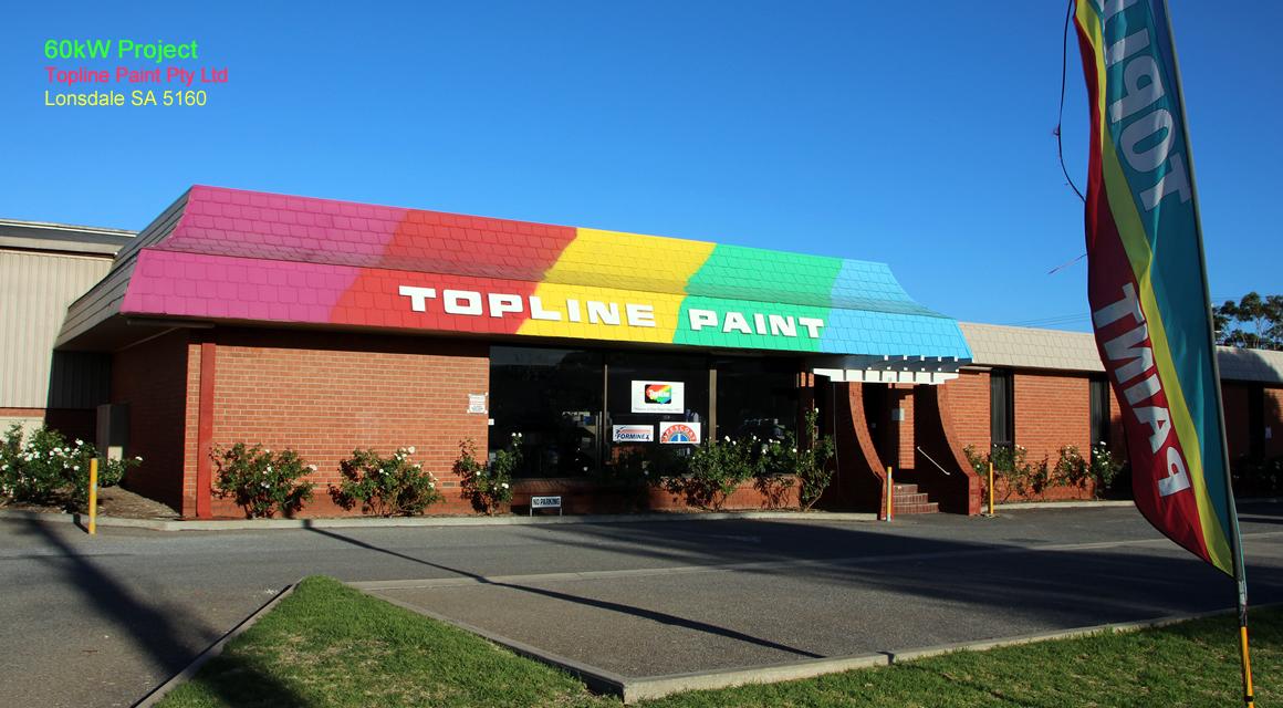 60kW Solar Panel Project - Top Line Paint